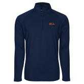 Sport Wick Stretch Navy 1/2 Zip Pullover-Official Greek Letters Two Color