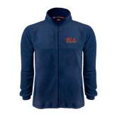 Fleece Full Zip Navy Jacket-Greek Letters Stacked