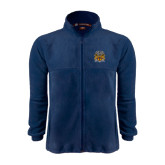 Fleece Full Zip Navy Jacket-Crest