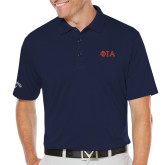 Callaway Opti Dri Navy Chev Polo-Official Greek Letters Two Color