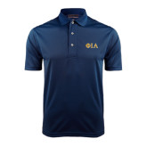 Navy Dry Mesh Polo-Official Greek Letters Two Color