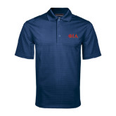 Navy Mini Stripe Polo-Official Greek Letters Two Color