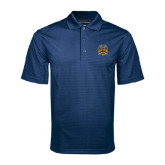 Navy Mini Stripe Polo-Crest