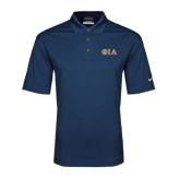 Nike Golf Tech Dri Fit Navy Polo-Official Greek Letters Two Color