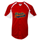Replica Red Adult Baseball Jersey-Phi Iota Alpha