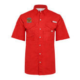 Columbia Bonehead Red Short Sleeve Shirt-Crest