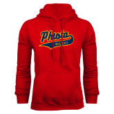 Red Fleece Hoodie-Tackle Twill Phiota Script