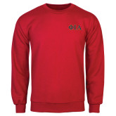 Red Fleece Crew-Official Greek Letters Two Color