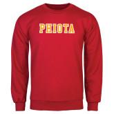 Red Fleece Crew-Tackle Twill Caps PHIOTA