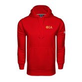Under Armour Red Performance Sweats Team Hoodie-Official Greek Letters Two Color