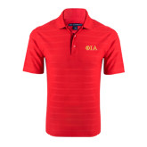Red Horizontal Textured Polo-Official Greek Letters Two Color