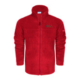Columbia Full Zip Red Fleece Jacket-Official Greek Letters Two Color