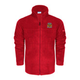 Columbia Full Zip Red Fleece Jacket-Crest