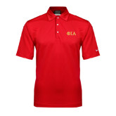 Nike Sphere Dry Red Diamond Polo-Official Greek Letters Two Color