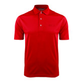 Red Dry Mesh Polo-Official Greek Letters Two Color