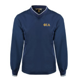 Navy Executive Windshirt-Official Greek Letters Two Color