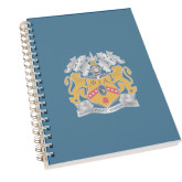 Clear 7 x 10 Spiral Journal Notebook-Crest