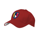 Red Mesh w/White Sandwich Structured Hat-Shield