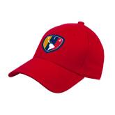 Red Heavyweight Twill Pro Style Hat-Shield