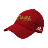 Adidas Red Slouch Unstructured Low Profile Hat-Dons Est 1931