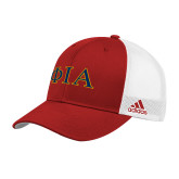 Adidas Red Structured Adjustable Hat-Official Greek Letters Two Color