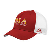 Adidas Red Structured Adjustable Hat-Greek Letters Stacked
