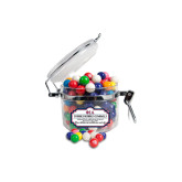 Dubble Bubble Gumballs Small Round Canister-Official Greek Letters Two Color