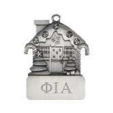 Pewter House Ornament-Official Greek Letters Two Color Engraved