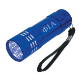 Industrial Triple LED Blue Flashlight-Official Greek Letters Two Color Engraved