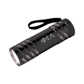 Astro Black Flashlight-Official Greek Letters Two Color Engraved