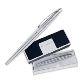 Cross ATX Pure Chrome Rollerball Pen-Wordmark Flat Engraved