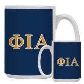 Full Color White Mug 15oz-Official Greek Letters Two Color