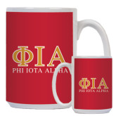 Full Color White Mug 15oz-Greek Letters Stacked