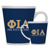 Full Color Latte Mug 12oz-Greek Letters Stacked