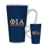 Full Color Latte Mug 17oz-Greek Letters Stacked
