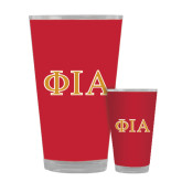 Full Color Glass 17oz-Official Greek Letters Two Color