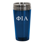 Solano Acrylic Blue Tumbler 16oz-Official Greek Letters Two Color