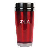 Solano Acrylic Red Tumbler 16oz-Official Greek Letters Two Color