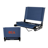 Stadium Chair Navy-Official Greek Letters Two Color