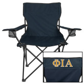 Deluxe Navy Captains Chair-Official Greek Letters Two Color