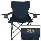 Deluxe Navy Captains Chair-Greek Letters Stacked