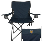 Deluxe Navy Captains Chair-Crest