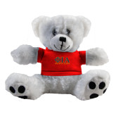 Plush Big Paw 8 1/2 inch White Bear w/Red Shirt-Greek Letters Stacked
