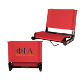 Stadium Chair Red-Greek Letters Stacked