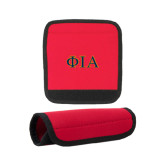 Neoprene Red Luggage Gripper-Official Greek Letters Two Color
