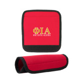 Neoprene Red Luggage Gripper-Greek Letters Stacked
