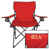 Deluxe Red Captains Chair-Official Greek Letters Two Color