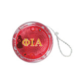 Light Up Red YoYo-Official Greek Letters Two Color