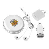 3 in 1 White Audio Travel Kit-Crest