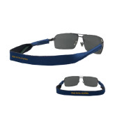 Croakies Navy Thin Band Sunglasses Strap-Wordmark Flat